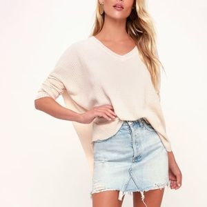 Lulu's Basics soft blush oversized sweater